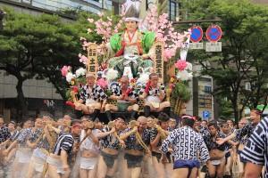 Hakata Gion Yamakasa -festivaali Fukuokassa
